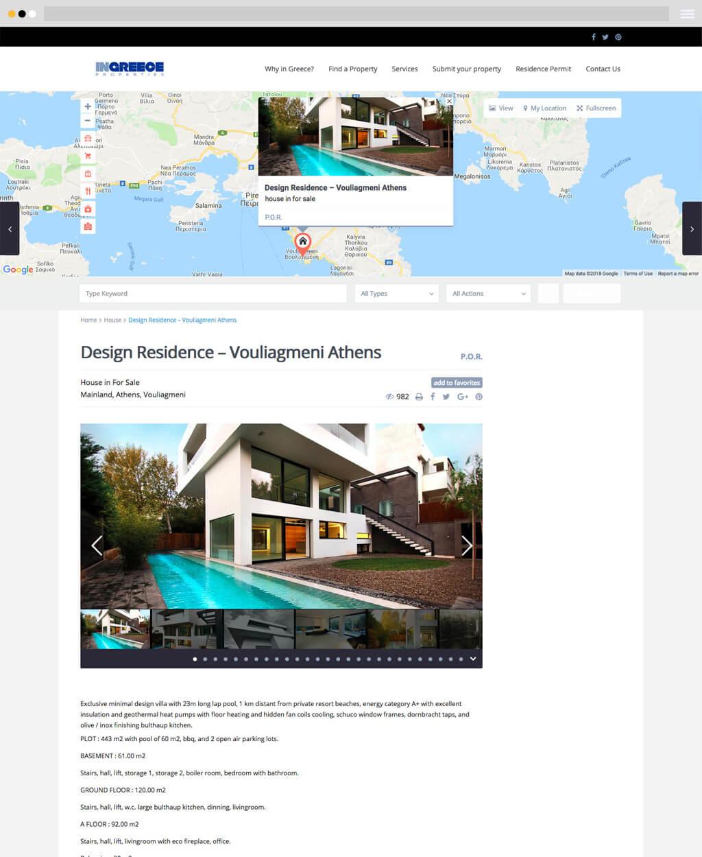 ingreece properties detailed real estate listing