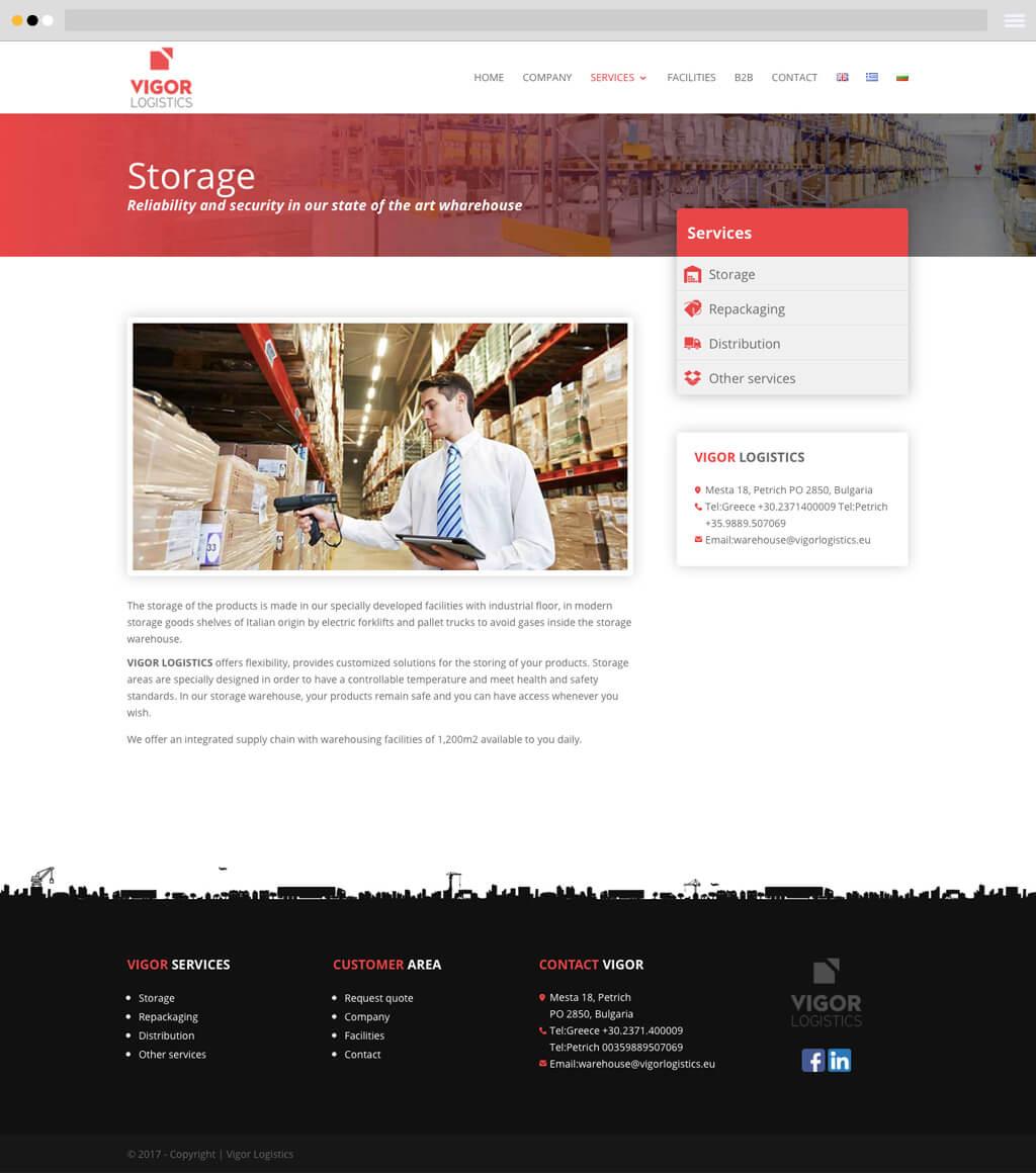 vigor logistics website design services