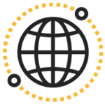 icon of a globe representing a team